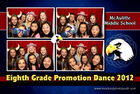 McAuliffe 8th grade promotion dance 2012